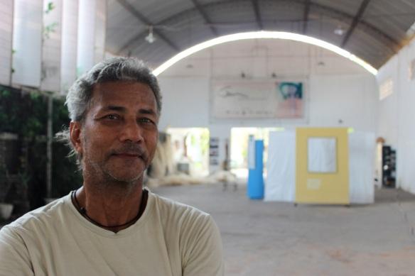 Artista Antônio Botelho, um dos responsáveis pelo GAM Galpão de Artes de Marabá - Foto Tiago Gambogi Copyright 2012 Projeto Trans-Amazônia